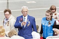 Veterano en la celebración en el desfile Victory Day anual, mayo, 9, Imagen de archivo libre de regalías