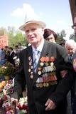 Veterano no dia da vitória Fotos de Stock Royalty Free