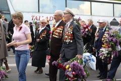 Veterano no dia da vitória Imagens de Stock Royalty Free