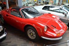 Veterano rojo de Ferrari en el museo de Beaulieu imágenes de archivo libres de regalías
