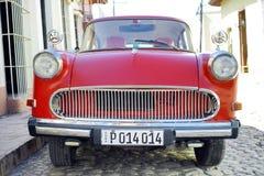 Veterano rosso - Trinidad, Cuba immagini stock