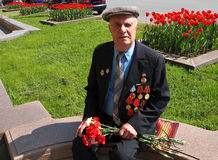 Veterano ruso de WW II Fotografía de archivo
