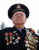 Veterano ruso del marinero de WWII Foto de archivo