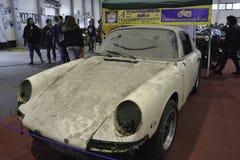 Veterano sujo Porsche Foto de Stock Royalty Free