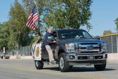 Veteranos americanos en el camión Foto de archivo libre de regalías