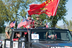 Veteranos americanos en el coche Fotografía de archivo libre de regalías