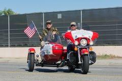Veteranos americanos en la motocicleta Imagen de archivo