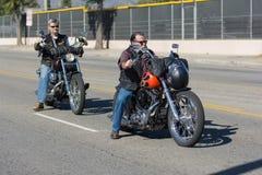 Veteranos americanos en las motocicletas Imagenes de archivo