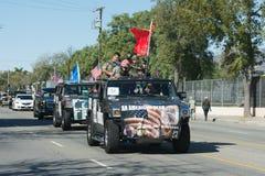 Veteranos americanos en los coches Imagen de archivo