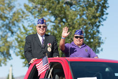 Veteranos americanos no caminhão Imagens de Stock