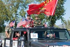 Veteranos americanos no carro Fotografia de Stock Royalty Free