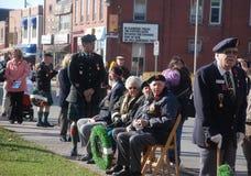 Veteranos assentados, dia da relembrança de Acton Foto de Stock Royalty Free