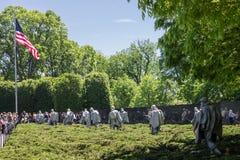 Veteranos da Guerra da Coreia memoráveis Fotos de Stock