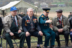Veteranos da segunda guerra mundial Fotografia de Stock
