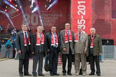 Veteranos da sociedade Spartak dos esportes Fotografia de Stock