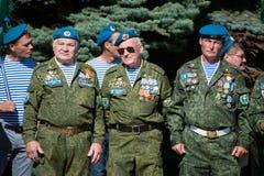 Veteranos das tropas transportadas por via aérea de Rússia fotos de stock royalty free