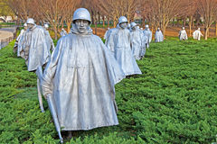 Veteranos de Guerra da Coreia memoráveis Fotografia de Stock Royalty Free