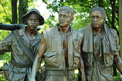 Veteranos de guerra de Vietnam memoráveis no Washington DC Fotos de Stock Royalty Free