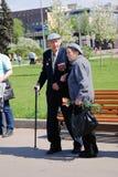 Veteranos de guerra no parque de Gorky Imagem de Stock Royalty Free