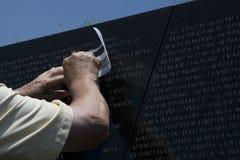 Veteranos de Vietnam memoráveis no Washington DC Imagens de Stock Royalty Free
