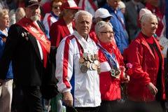 Veteranos dos esportes soviéticos Fotos de Stock Royalty Free