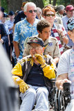 Veteranos en el desfile del Memorial Day Imagen de archivo libre de regalías
