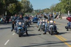 Veteranos en las motocicletas Foto de archivo libre de regalías
