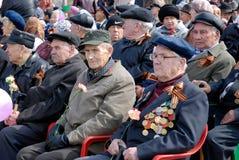 Veteranos honorables de Russian WWII Fotos de archivo