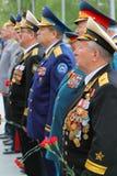 Veteranos na cerimónia da colocação da grinalda Imagem de Stock Royalty Free