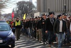 Veteranos que marchan para Ron Paul Fotografía de archivo libre de regalías