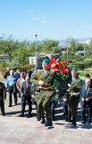 Veteranos rusos de la guerra de Afganistán Fotografía de archivo