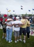 Veterans. At dedication of the Wildwood Memorial to Vietnam War, New Jersey Royalty Free Stock Photo