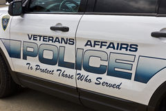 Veterans Affairs Police at the Roudebush VA Medical Center I Royalty Free Stock Image