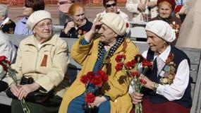 Veterans av det stora patriotiska kriget Ryssland Arkivbilder