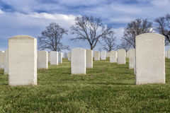 Veterans Cemetery With Copyspace Stock Photo