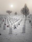 Veterans Cemetery. Winter scene of Veterans Cemetery in Culpeper, Virginia Royalty Free Stock Photography
