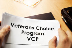 Veterans Choice Program VCP. stock images