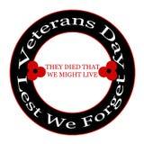 Veterans day. Red poppy Veterans day design stock illustration