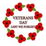 Veterans day. Red poppy Veterans day design vector illustration