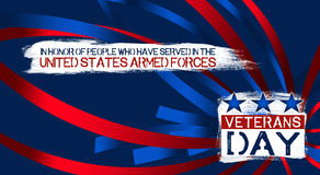 Veterans Day. An abstract illustration on Veterans Day vector illustration