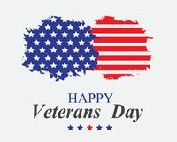 Veterans Day in America. Stains and american flag on a light background on a veterans da Royalty Free Stock Images