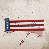 Veterans Day american festive curved Ribbon. On concrete Background. Vector Illustration Stock Images