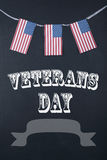 Veterans Day and American Flag Royalty Free Stock Photo