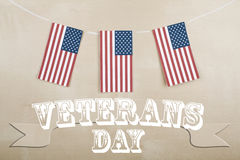 Veterans Day and American Flag Royalty Free Stock Images