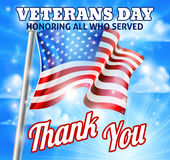 Veterans Day American Flag Design Royalty Free Stock Photo