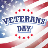 Veterans day american flag Stock Image