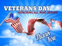 Veterans Day American Flag Sky Stock Photos