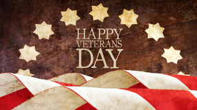 Veterans Day. American Flag. Waves Royalty Free Stock Photography