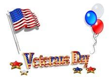 Veterans Day Background 3D royalty free illustration