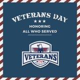Veterans Day Background. And Emblem Logo Design. Vector illustration stock illustration